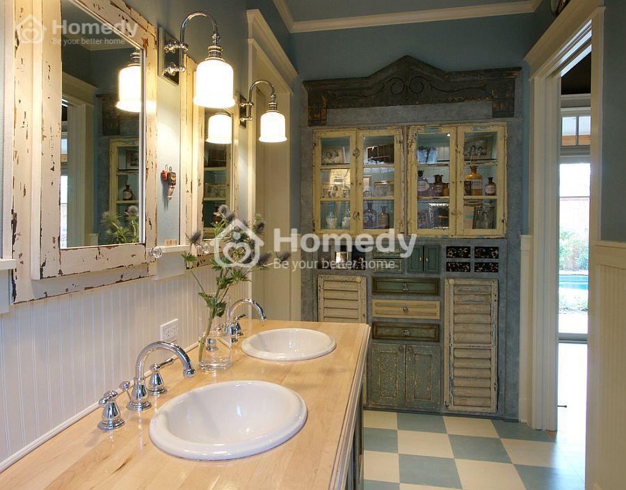 phòng tắm cổ điển và sang trọng
