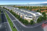 Với diện tích 135 ha, dự ánđượcchia làm bốnphân khu: Khu A, khu B, khu C và khu D. Trong đó:Phân khu A gồm chung cư cao cấp và nhàliền kề. Khu B, khu C và khu Dgồm nhàliền kề và biệt thự.
