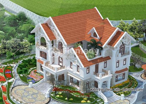 biệt thự 3 tầng theo phong cách cổ điển