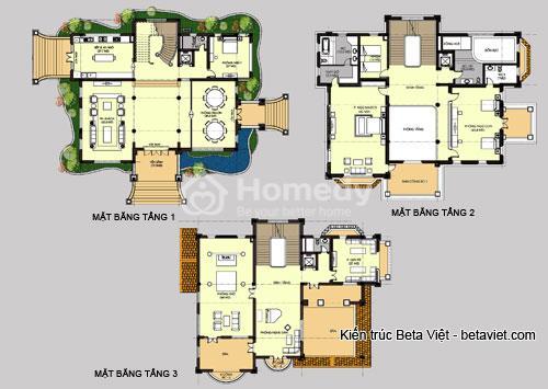 biệt thự 3 tầng