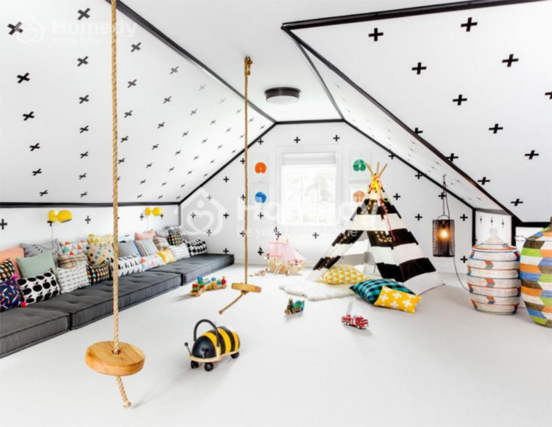phòng chơi độc đáo cho trẻ