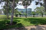 Không gian cây xanh được phân lô theo từng ô và mảng xanh tập trung với nhiều loại cây khác nhau bảo đảm các yêu cầu: Xanh mát quanh năm, không khí trong lành, nhằm tạo ra không gian kiến trúc trẻ trung, mới lạ, góp phần tạo nên chất lượng sống tốt hơn cho cư dân tại đây.