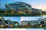Phối cảnh khách sạn DIC Star Resort với cấu trúc thiết kế sang trọng theo tiêu chuẩn quốc tế, đem tới không gian nghỉ ngơi và giải trí đẳng cấp.