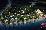 Jamona Home Resort lấp lánh ánh đèn như những vì sao nổi lên trên dòng sông Vĩnh Bình yên ả.