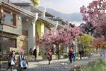 Khung cảnh nhà phố thương mại thiết kế đa năng tái hiện dãy phố du lịch nổi tiếng tại trung tâm thị trấn Sapa.