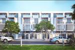 Một góc khu nhà liền kề trong dự án với khuôn viên cây xanh tạo nên môi trường sống trong lành cho cư dân.