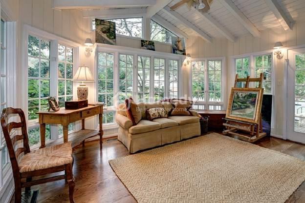Phòng khách lãng mạn và đơn giản