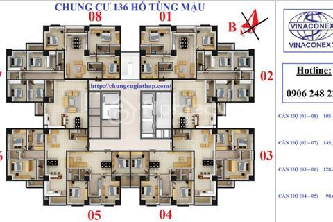 Bán căn hộ 128 m2 chung cư Housing Complex - 136 Hồ Tùng Mậu tòa 1A giá gốc không chênh