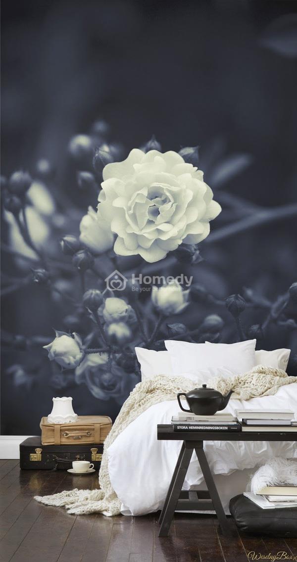 Giấy dán tường họa tiết hoa hồng