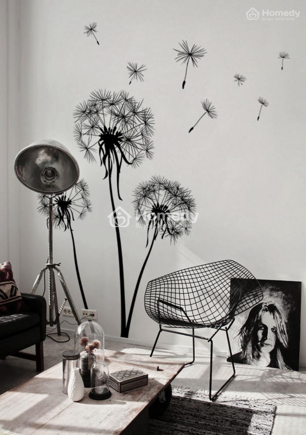 Giấy dán tường họa tiết hoa