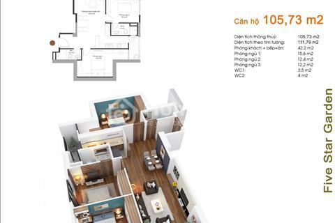 Cần bán nhanh căn hộ Five Star có diện tích 105,73 m2, 3 phòng ngủ, tòa G1, giá siêu rẻ