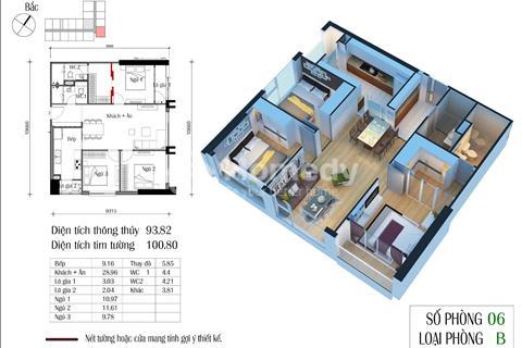 Bán căn góc 06 chung cư Eco Green (93,98 m2, 3 phòng ngủ)
