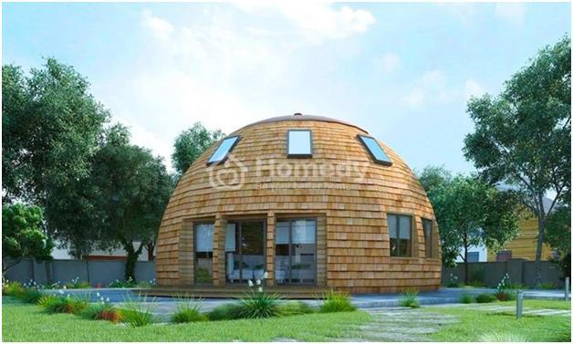 Mẫu thiết kế nhà hình mái vòm