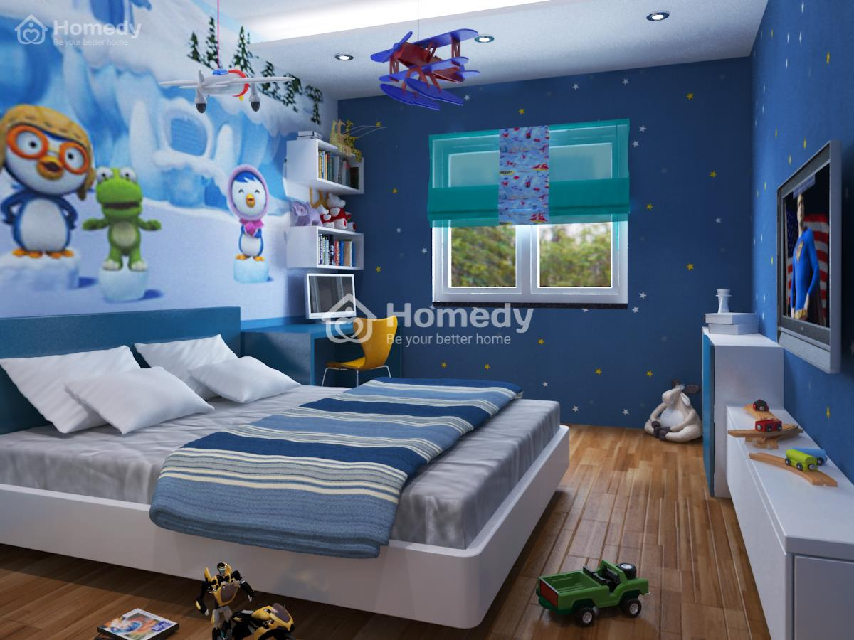 phòng ngủ cho trẻ hợp phong thủy