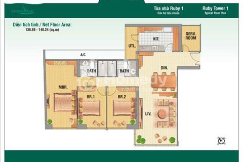 Bán căn hộ Saigon Pearl tháp Ruby 1 - 140m2 3 phòng ngủ nội thất đầy đủ