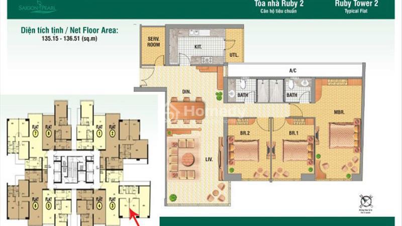 Bán căn Penthouse cao cấp tại dự án Saigon Pearl Quận Bình Thạnh, 4 PN, lộng lẫy - 5