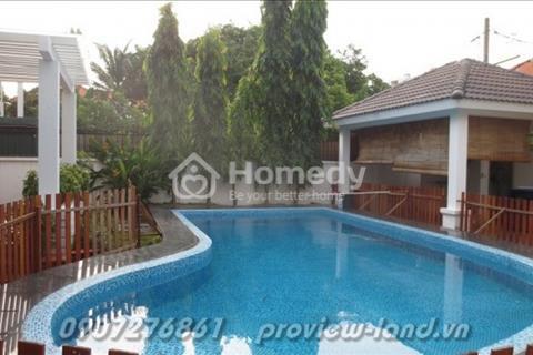 Bán biệt thự Trần Não 555 m2 sân vườn hồ bơi rộng nhiều cây xanh thoáng mát không khí trong lành
