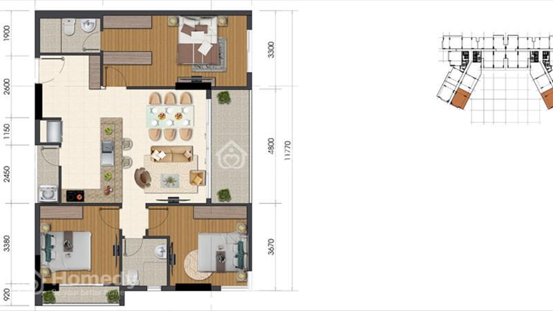 Bán xuất nội bộ căn góc 2 mặt tiền cực đẹp tại Everich Infinity - 4