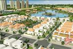 Dự án được bao bọc xung quanh bởi nhiều cây xanh và hồ nước, tạo ra một không gian xanh mát, thoáng đãng.
