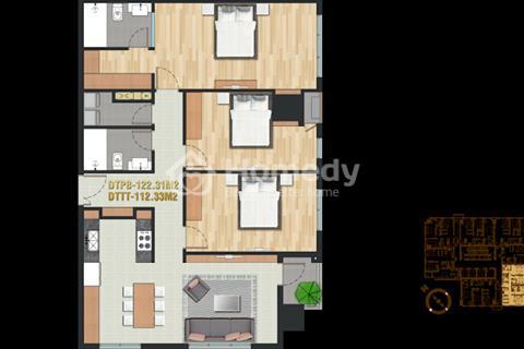 Bán căn hộ 122m2 3 phòng ngủ quận Bình Thạnh Pearl Plaza.