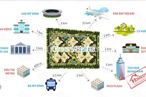 Chính chủ bán chung cư Green Stars S = 74 m2 giá rẻ 25 triệu/m2 tầng 12