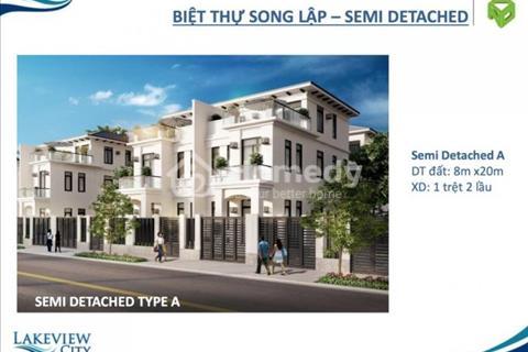 Cơ hội tuyệt vời để sở hữu biệt thự liền kề Lakeview City phường An Phú, Q2. DT: 100m2. Giá: 5,8 tỷ