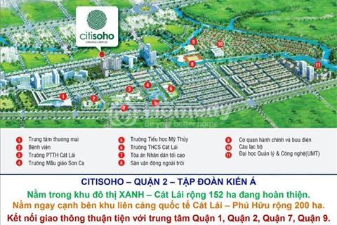 Mở bán Citi Soho Quận 2, 2PN chỉ với 980tr/ căn, thanh toán 1%/tháng