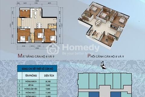 Trao đổi mua bán căn hộ chung cư 304 Hồ Tùng Mậu diện tích 122 m2, 4 phòng ngủ.