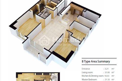 Cho thuê căn hộ Cantavil Premier 3 phòng ngủ 125m2