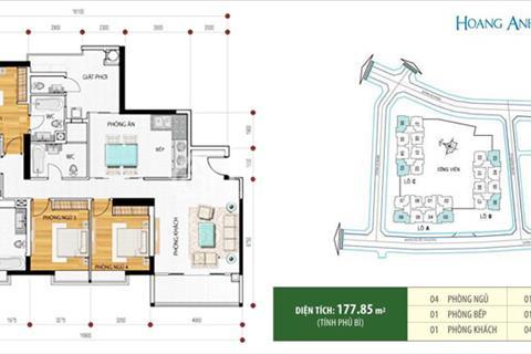 Cho thuê căn hộ quận 2 Hoàng Anh Riverview 178m2 4 phòng ngủ tầng cao giá tốt
