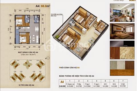 Cho thuê chung cư Green Stars Phạm Văn Đồng, diện tích 66,8 m2. Giá 12 triệu/ tháng