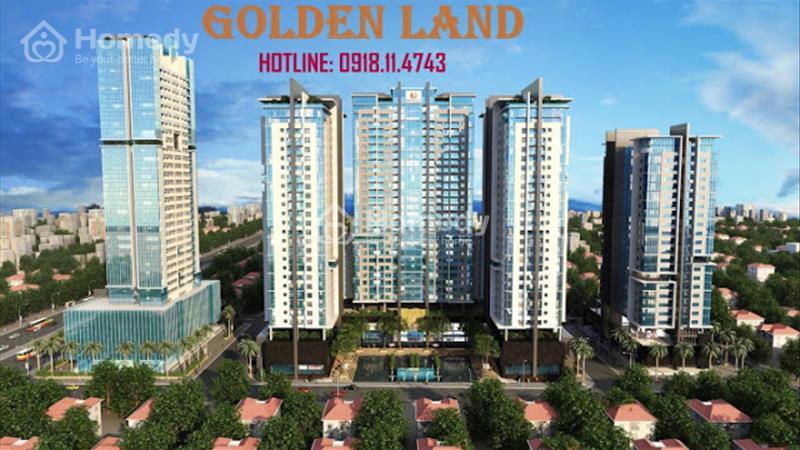 Bán căn Duplex cc Golden Land giá chỉ 28,5 tr/m2 . Thanh toán 30% nhận nhà ngay. Hỗ trợ ls 0%/2 năm - 1