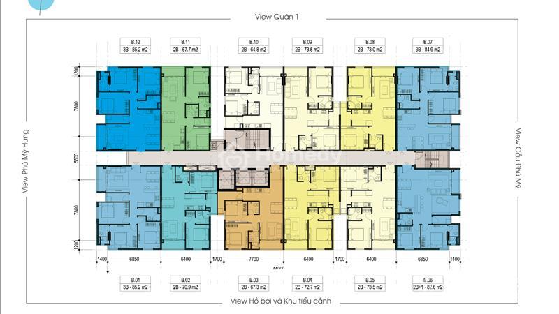 Cần bán gấp căn hộ Luxcity quận 7 giá thấp hơn CĐT 2Pn 71m2 chỉ 1,9 tỷ tặng gói nội thất - 3