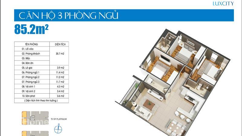 Cần bán gấp căn hộ Luxcity giá thấp hơn chủ đầu tư, 2 phòng ngủ 71 m2 chỉ 1,9 tỷ tặng gói nội thất - 7