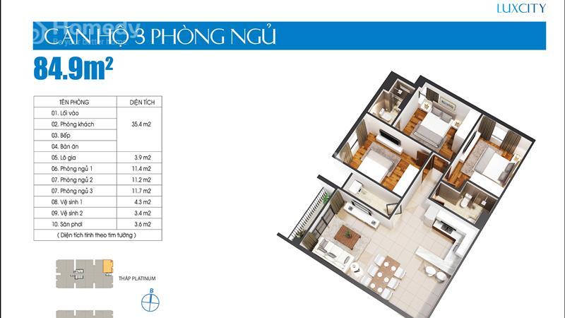 Cần bán gấp căn hộ Luxcity giá thấp hơn chủ đầu tư, 2 phòng ngủ 71 m2 chỉ 1,9 tỷ tặng gói nội thất - 6