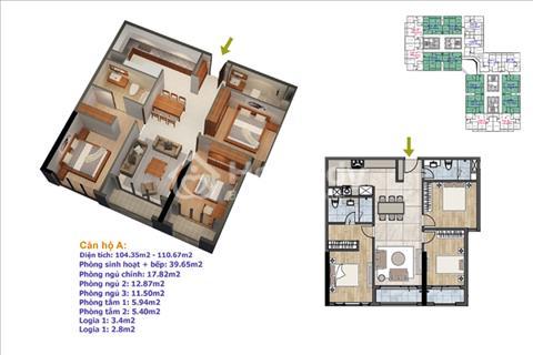 Bán chung cư Goldmark City – Ruby 4 giá 28 triệu/ m2, diện tích 110,67 m2 căn 14