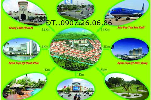 Cần bán nền đất nhà phố DT: 5x17.5m mặt tiền đường rộng 8m
