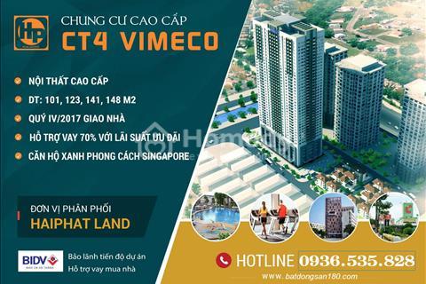 Bán sàn thương mại đẹp nhất phố Trung Hòa chung cư CT4 Vimeco - Cạnh Big C Thăng Long giá rẻ