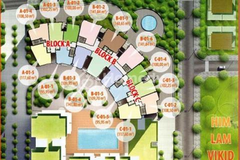 Cho thuê Him Lam Riverside. 143 m2, 3 PN, 3 WC, kho, đầy đủ nội thất