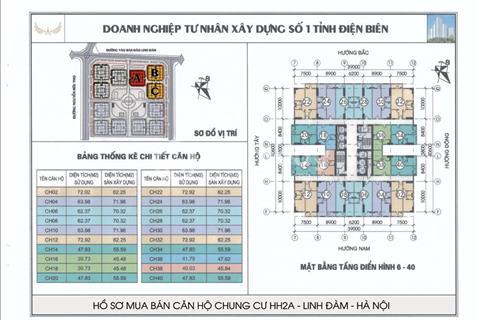 Cần bán gấp căn hộ 2 phòng ngủ, căn 26_28 toà HH2A chung cư Linh Đàm giá chênh cực shock!!!