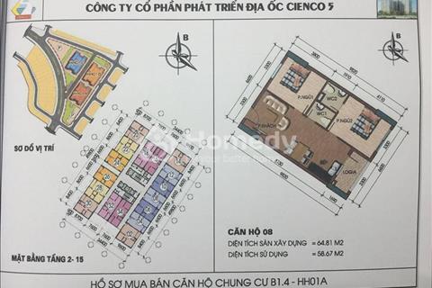 Bán nhanh căn 2 ngủ view hồ chung cư HH01 Thanh Hà Mường Thanh giá rẻ