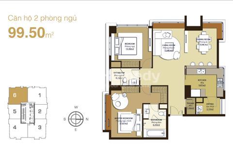 Bán căn hộ Sunrise City, 99 m2, 2 PN, 2 WC, lầu trung, view đẹp, đầy đủ nội thất giá 4.2 tỉ