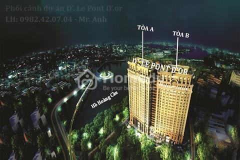 4 tỷ đồng sở hữu căn hộ 100 m2, tầng cao, View hồ đẹp tại dự án căn hộ cao cấp D'. Le Pont Dor