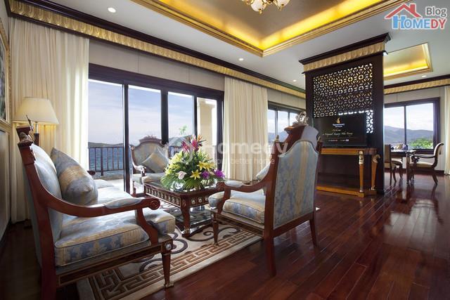 phong khach biet thu Vinpearl Luxury Villas
