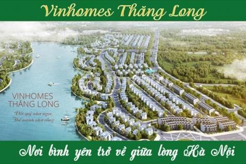 Bán lô biệt thự ven hồ cực đẹp Vinhomes Thăng Long, tiện ích 5 sao, 272m2 chỉ từ 13 tỷ