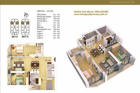 Bán lại căn 133,4 m2 Discovery Complex 302 Cầu Giấy tầng dưới 36