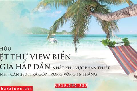 Đất nền Sentosa Villa view trực diện biển Phan Thiết - 4,5 tr/m2, vị trí vàng đầu tư sinh lời cao