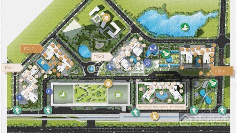 Masteri Thảo Điền 2PN T5 - A12.11 view hồ bơi, quận 1 Bitexco, giá 3 tỷ - 2