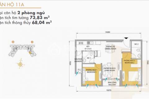 Masteri Thảo Điền 2PN T5 - A12.11 view hồ bơi, quận 1 Bitexco, giá 3 tỷ