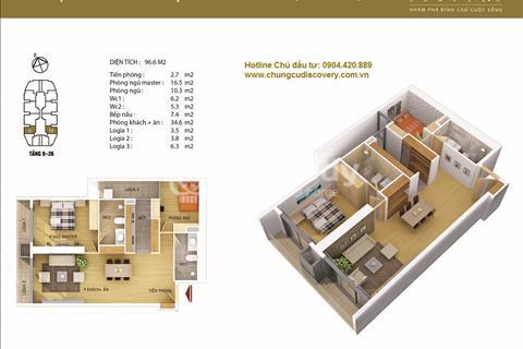 Discovery complex 302 Cầu Giấy bán căn 2 phòng ngủ, khuyến mãi 200 triệu